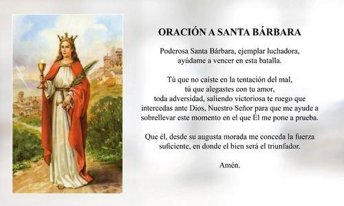 ✝ Las MEJORES ORACIONES a Santa Bárbara, Plegarias y Rezos ✝ 4